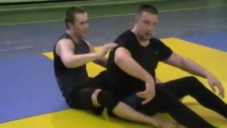 Валерий Андреев. удушение со спины с отключением руки ногой