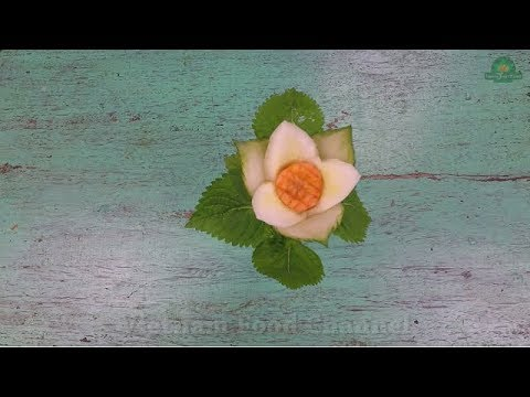 How to make Cubcumber flower (04)