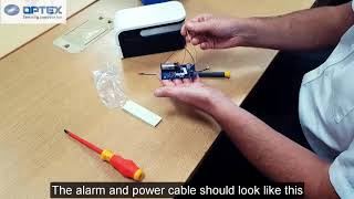 Installation guide: How to Install a Universal transmitter to a Optex sensor