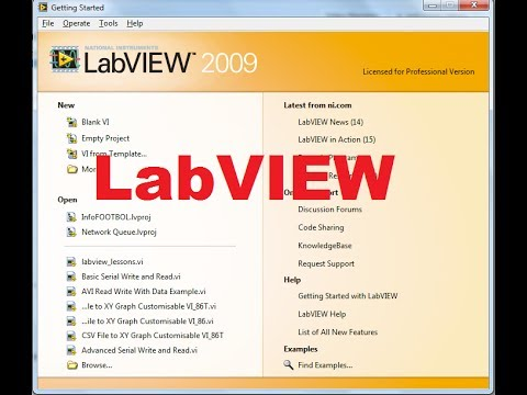Beginners LabVIEW Tutorial 1: Getting Started with LabVIEW ...