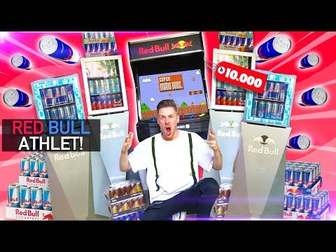 UNGLAUBLICHE Red Bull ÜBERRASCHUNG für über 10K (Unendlich Dosen, Kühlschränke & SPIELAUTOMAT!!)