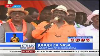 Muungano wa NASA yaendeleza kampeini za kutokuhusika na uchaguzi katika maeneo ya Kisii