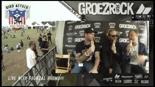 Bird Attack Punk Rock Radio Interview with Frenzal Rhomb at GROEZROCK -