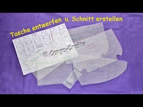 Clutch / Handtasche mit Klappe entwerfen + Schnitt herstellen DIY