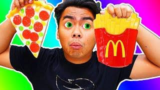 GUMMY FOOD VS REAL FOOD 11!