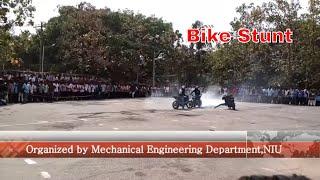 Bike Stunt in Noorul Islam University   Motorcycle stunt in college