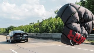 I pulled my new Parachute on the Highway!!