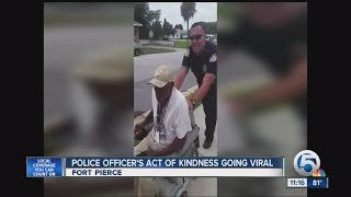 Police Officer's Act of Kindness Going Viral