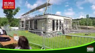 Video der Montage des neuen Musterhauses