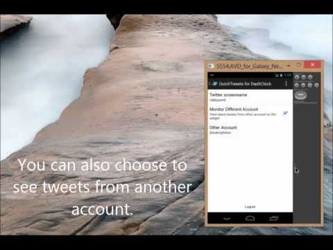 Video of QuickTweets for DashClock