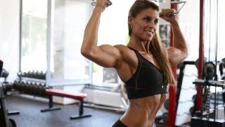Gabriella Szabo IFBB Bodyfitness World Champion 2013 Gym Photoshooting Video Part 3.