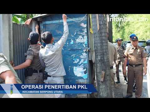 SATPOL PP Serpong Utara Gelar Operasi Penertiban PKL
