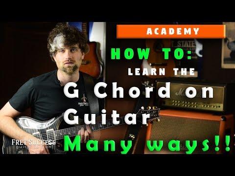 G Chord on Guitar   Fret Success