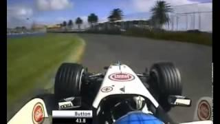 F12006ホンダジェンソン・バトンオーストラリアのオンボード