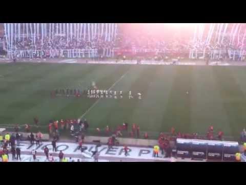 """""""River Plate vs. boca - Torneo Julio Grondona - Recibimiento"""" Barra: Los Borrachos del Tablón • Club: River Plate"""