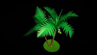 DIY - How to Make a Coconut Paper Tree Tutorial - Very Easy