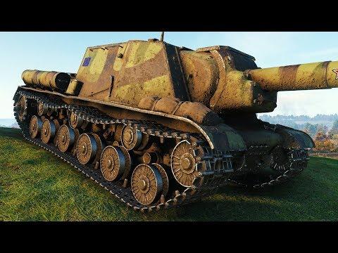 ISU-152 - DAMAGE RECORD! - World of Tanks Gameplay