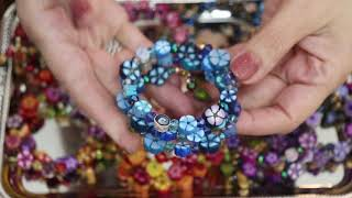 Creating Memory Wire Bracelets With Polymer Clay Beads , Jewelry Tutorial