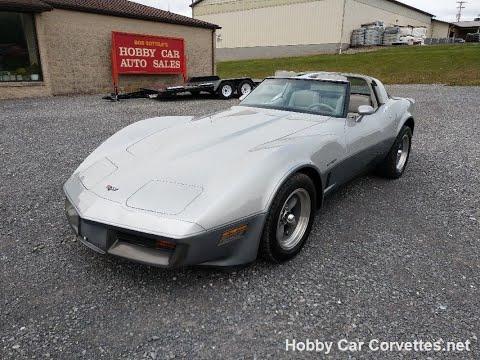 1982 Silver Charcoal Corvette For Sale Video