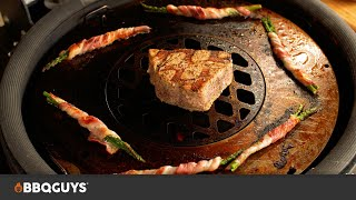 BBQGuys Signature Grill & Griddle Insert for Kamado Charcoal Grills