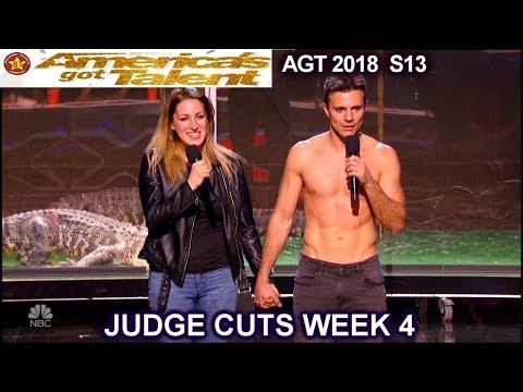 Lord Nil Escape Artist and ALLIGATORS and COMMENTS America's Got Talent 2018 Judge Cuts 4 AGT (видео)