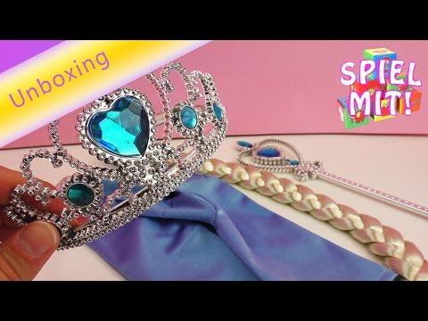 Eiskönigin Elsa Deutsch Karnevalsset zum verkleiden – Frozen Kleid – Verkleidung Fasching Karneval