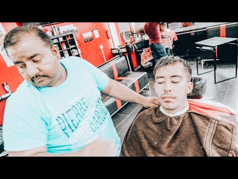 AMAZING BARBER SHAVE AND THREADING – ASMR (Nomad Barber)