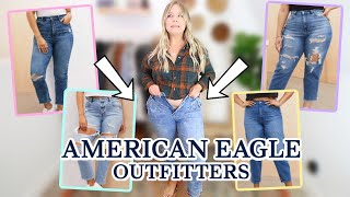 I Tried Every American Eagle MOM JEAN So You Dont Have To