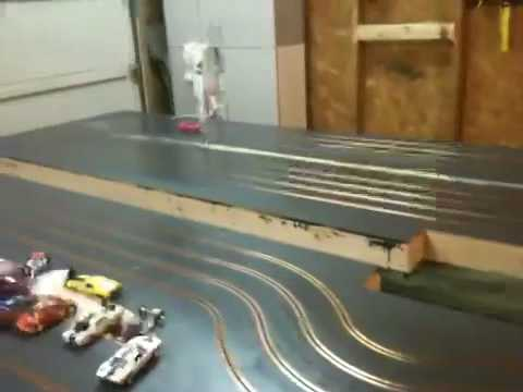 1/32 home made slot car wooden track