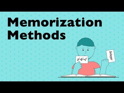 Memorization Methods and Why They Work
