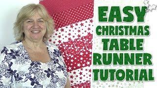 Easy Christmas Table Runner Tutorial (No Binding)