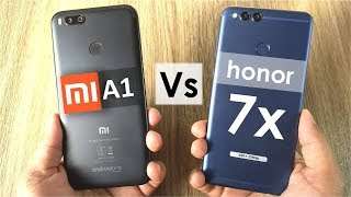 Mi A1 vs Honor 7x | Gaming, Camera, Battery, Sound, Design & Build