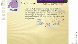 How To Solve Trig Applications: Angle Of Elevation