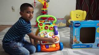 Vtech. Sit To Stand Learning Walker Built By Kid/Assemble & Review By Kid/Katapa TV