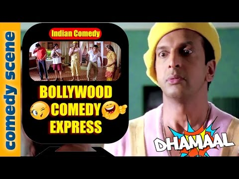 Javed Jaffrey Comedy {HD} | Bollywood Comedy Express | Dhamaal Comedy Scenes | Indian Comedy (видео)