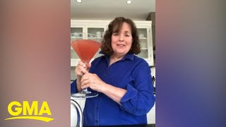 Ina Garten Shows Us How To Make Her Massive Cosmopolitan For A Virtual Cocktail Party