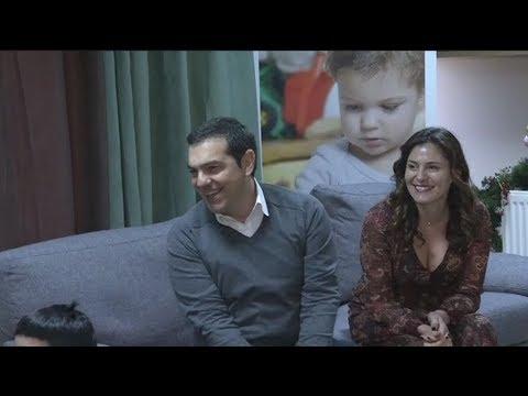 Ο πρόεδρος του ΣΥΡΙΖΑ, Α. Τσίπρας στο Παιδικό Χωριό SOS
