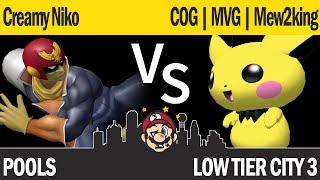 LTC3 Melee - Creamy Niko (C Falcon) vs COG MVG | M2K (Pichu, Sheik) - Pools