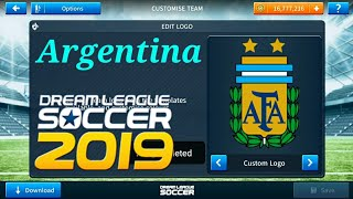 create argentina full team kits and logo in dls 18 - मुफ्त