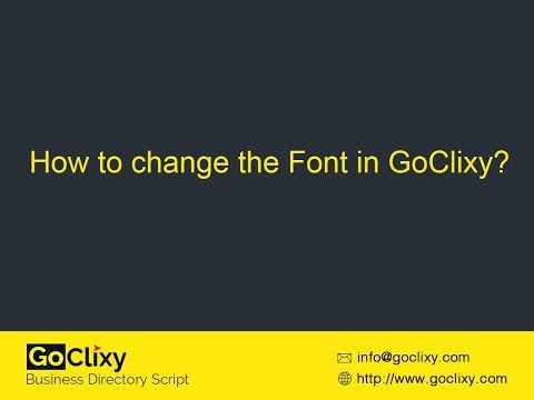 GoClixy - How to change the Font?