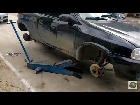 Trocando os pneus e balanceando as rodas do corsinha