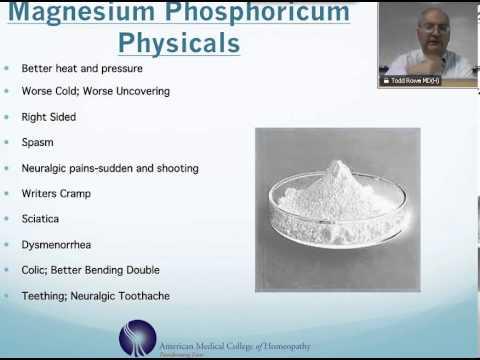 Video Magnesium Phosphoricum : Homeopathic Medicine -Tips For Beginners