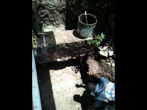 Keshs first start on drainage work