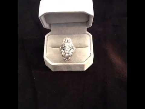 Margaret Matson Jewelry  one ladies platinum filigree ring
