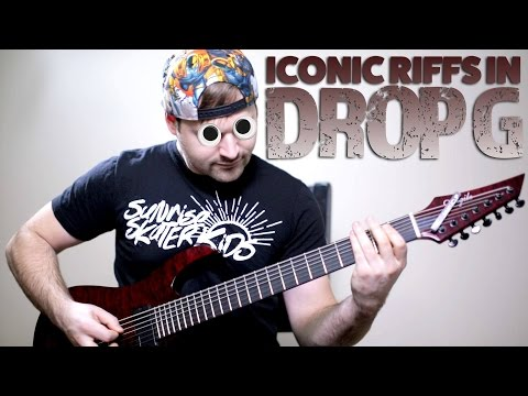 10 iconic guitar riffs (IN DROP G)