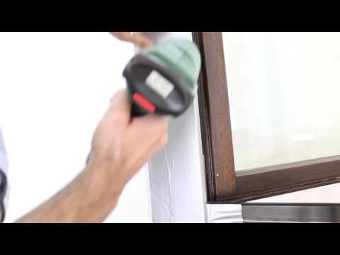 Fensterrahmen oder Türrahmen mit Klebefolie verkleben