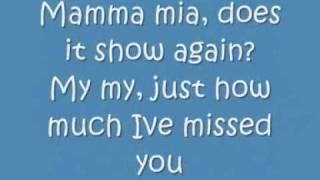 ABBA Mamma Mia lyrics