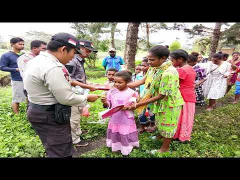 Mencerdaskan Generasi Bangsa, Binmas Noken Melaksanakan Polisi Pi Ajar Di Kelompok Belajar Sekolah Minggu Kampung Musaima II