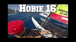 Hobie 16 sailing tutorial onboard commentary multi-camera