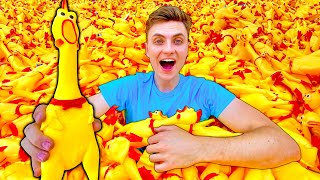 I Put 10,000 Rubber Chickens in My Pool